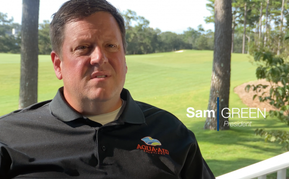 Sam Green shares message on turf industry and AQUA-AID Solutions